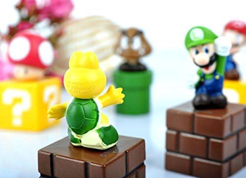 Super Mario Bros Goomba Luigi 5cm PVC Juguete Figuras: Amazon.es: Juguetes y juegos