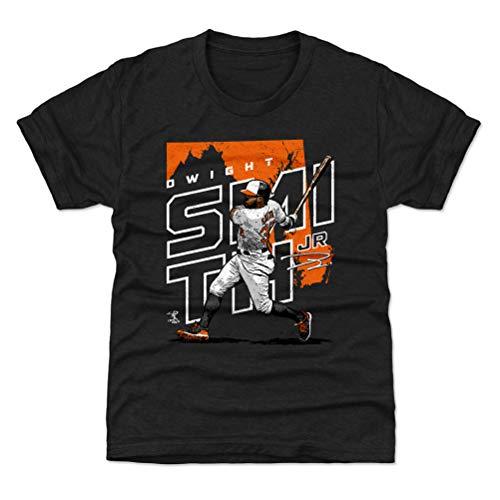 - 500 LEVEL Dwight Smith Jr. Baltimore Baseball Youth Shirt (Kids Medium (8Y), Tri Black) - Dwight Smith Jr. Player Map O WHT