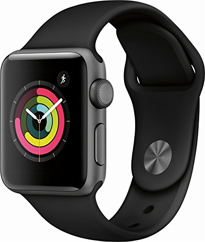 Apple Watch Series 3 (GPS), 38mm Space Gray Aluminum Case with Black Sport Band - MQKV2LL/A (Refurbished)