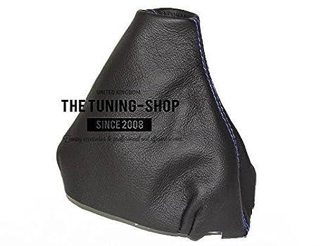 The Tuning-Shop Ltd For Volkswagen Passat B5 Fl 2001-05 Shift Boot Black Italian Leather Red Stitching