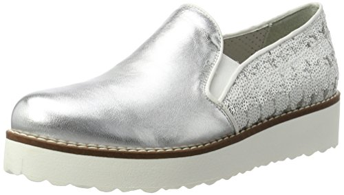 Marc Shoes Romy, Mocasines para Mujer Silber (Silver-Combi)