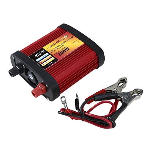 500 W KNOSSOS Inverter per Auto da DC12V a AC220V con 2 Porte USB 1000 W Presa CA da 300 W Nero e Rosso