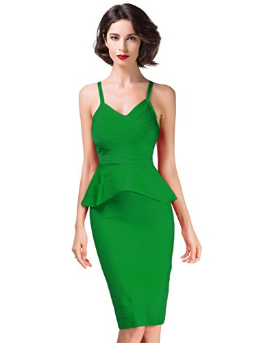 Bodycon Skirt Bandage 2 Pieces Robe Femme Elmer Sleeveless amp; Green Alice Celebrity Set xnzXBEFw