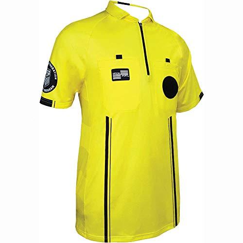 Style Jersey Football Pro - New USSF Men's Pro Soccer Referee Yellow SS Shirt (Medium Yellow)