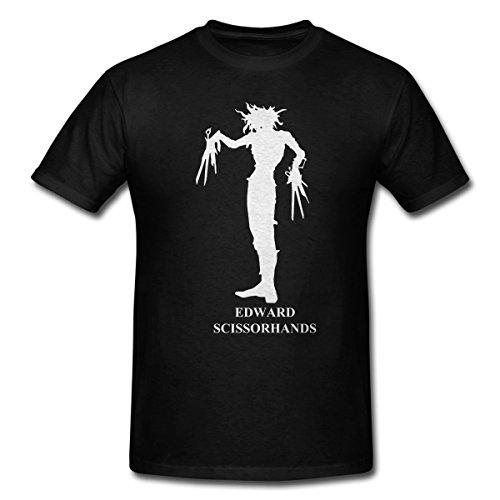 [Edward Scissorhands Black Men T-Shirt (XX-Large)] (Scissorhand Edward Costume)