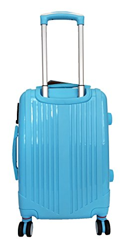 3 Pc Luggage Set Hardside Rolling 4wheel Spinner Upright Carryon Travel Sky Blue by Trendyflyer Collection (Image #2)