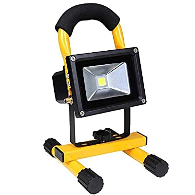 10 Watts Rechargeable Ultra-compact Portable Cordless LED Flood Light for Outdoor Fishing Camping Hiking Home Traveling