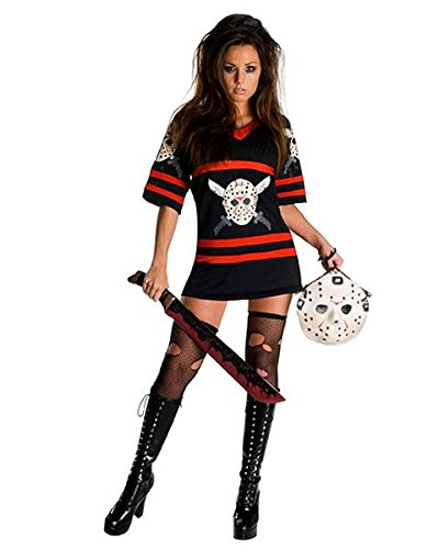 Secret Wishes Friday The 13Th, Miss Voorhees Mini-Dress and Handbag, Black, -