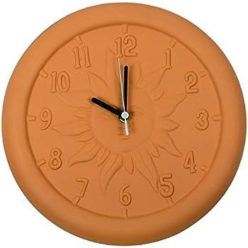 Amazon Com Poolmaster 12 Quot Terra Cotta Clock Garden
