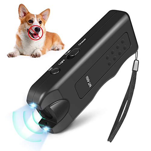 Handheld Dog Repellent, Ultrasonic Infrared Dog Deterrent, Bark Stopper + Good Behavior Dog Training