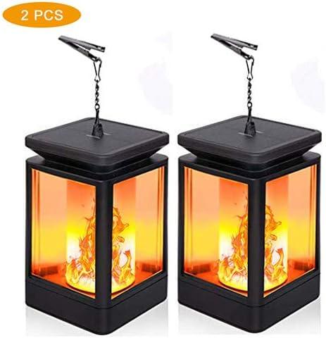Waterproof 99 LED Solar Flame Lights Hanging Lanterns Flickering Torch Lights