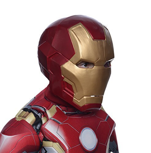 [Iron Man Mark 43 Child Deluxe Mask Costume Accessory] (Kids Deluxe Ultron Costumes)