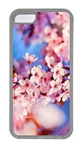 covers original cherry blossom hd TPU Transparent Case for iphone 5C