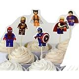 Lego The Avengers Assorted Cupcake Picks - Set of 12