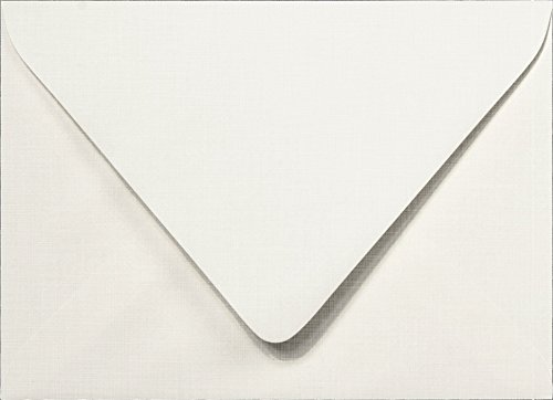Envelopes Outer - Outer A-7.5 Bright White Linen Euro Flap Envelopes (5 1/2