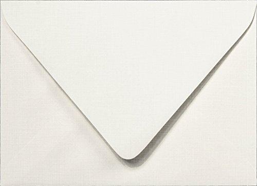 Outer A-7.5 Bright White Linen Euro Flap Envelopes (5 1/2