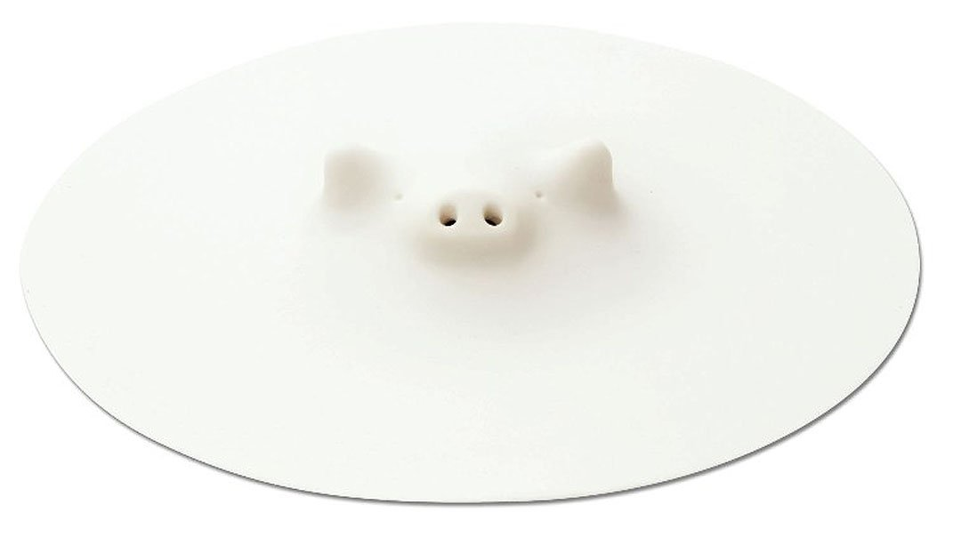 Marna Zoos Pig's Drop Lid White 21.5cm K-900