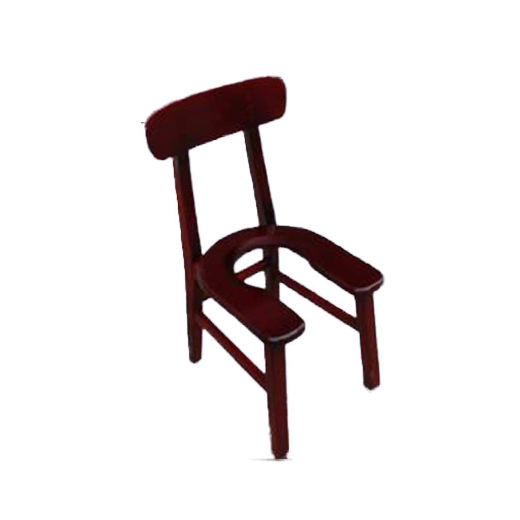Never give up Elderly Toilet seat Pregnant Women Toilet seat Solid Wood Toilet Stool Disabled Mobile Toilet seat Shower Chair (Color : #3) by Never give up