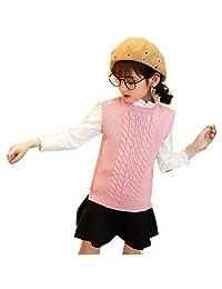 MV Autumn Winter Korean Pullover Knit Vest Girls Loose Student Sweater Kids Wear