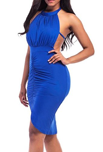 Dress Backless Irregular Solid s Mini Bodycon Clubwear Coolred As1 Women wOvqw8