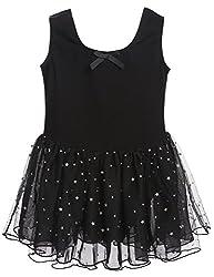 Arshiner Girls Classic Camisole Tank Sequins Tutu Dress Leotard,Size 140,Pink