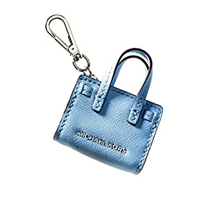 MICHAEL Michael Kors Womens Dillon Signature Charm Fashion Keychain Blue O/S