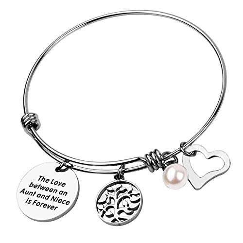 RUNXINTD Aunt Bracelet Niece Jewelry The Love Between an Aunt and Niece is Forever Gift for Aunt and Niece (DIY Bracelet)