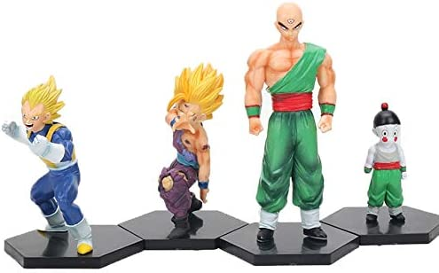 CLEARNICE Decoración Pack De 4 Dragon Ball Z Figuras Set Son Super ...