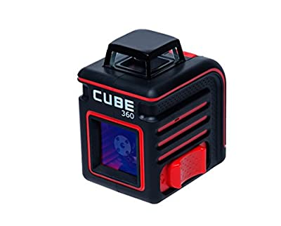 AdirPro Cube 360° Horizontal Cross Line Laser |Professional Self-Leveling Tool with ±4° Accuracy 230 ft Range