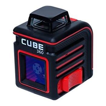 AdirPro Cube 360 Horizontal Cross Line Laser, Red/Black