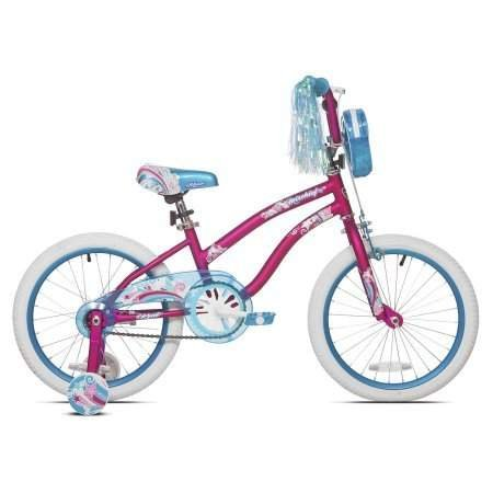 Sturdy and Stylish Kent 18'' Mischief Girls Bike,With Translucent Blue Chain Guard,Handlebar Mounted Tote Bag and Padded Seat,Great Starter Bike for Young Lady,Pink,Great Gift Idea