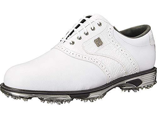 FootJoy Men's DryJoys Tour Golf Shoes White 13 W Croc, US by FootJoy