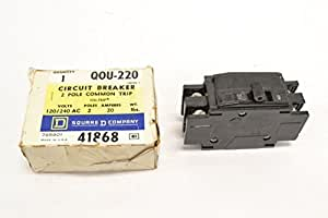 SQUARE D BY SCHNEIDER ELECTRIC - QOU220 - CIRCUIT BREAKER, THERMAL MAG, 2P, 20A