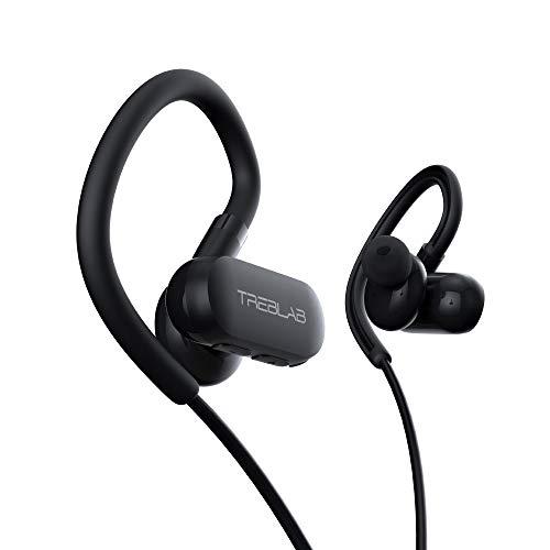 TREBLAB xRun - Prime Sports Wireless Earbuds of 2019 - Ultramodern Earphones Made for Running & Gym Workout. IPX4 Waterproof Sweatproof, Bluetooth 5.0 Cordless Headphones, Noise Cancelling ()