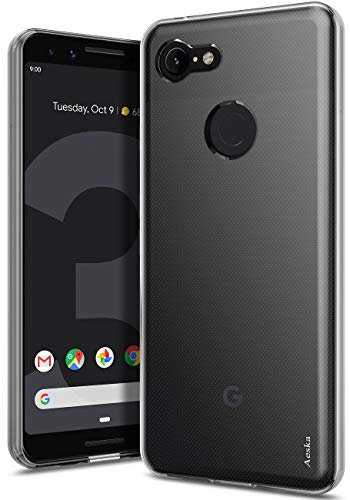 Google Pixel 3 Case, Aeska Ultra [Slim Thin] Flexible TPU Soft Skin Silicone Protective Case Cover for Google Pixel 3 (Clear) ()