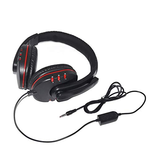 E.I.H. Wired Gaming Headsets Wired Gaming Headphones 40mm Driver Bass Stereo with Mic 3.5mm Jack Headsets Noise Isolating for PS4 for Xbox-ONE PC Mic (Definition Armoire Furniture)