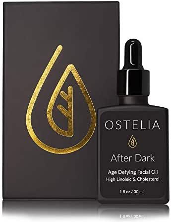 After Dark Overnight Facial Oil by Ostelia - For Aging or Dry Skin: Linoleic Acid, Cholesterol in Fresh Oils, Squalane, Beta-Carotene, Vitamins C and E. Mimics Healthy Sebum, Safe for Acne-Prone Skin