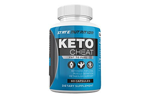 Keto Cheat, Weight Loss Advanced Support, Ketogenic Fat Loss Metabolism Support,Assists with Muscle Definition,Ketosis Supplement (60 Capsules) (The Cheat Pill)