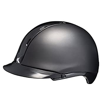 KED Tara – Casco de equitación, color Black Matt Carbon, tamaño 52-58
