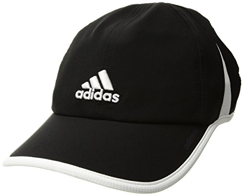 adidas Women's Adizero Relaxed Adjustable Performance Cap, Black/White, One Size from adidas
