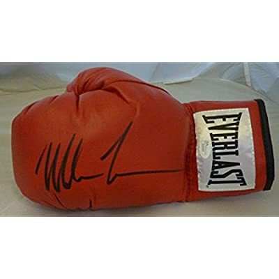 11a18ea89 Mike Tyson Autographed Red Everlast Left Glove - JSA Authenticated -  Autographed Boxing Memorabilia
