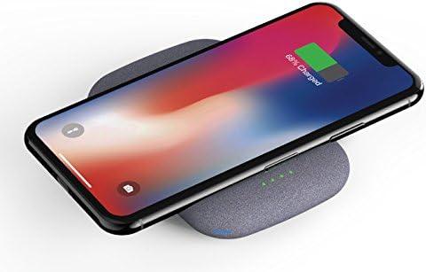 Fonesalesman QiStone, Cargador portátil Totalmente inalámbrico con 4000 mAh | Compatible con iPhone 11, 11 Pro, X, Samsung Galaxy S10, S10+, S10e, ...