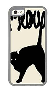 Apple Iphone 5C Case,WENJORS Uncommon Meow II Soft Case Protective Shell Cell Phone Cover For Apple Iphone 5C - TPU Transparent