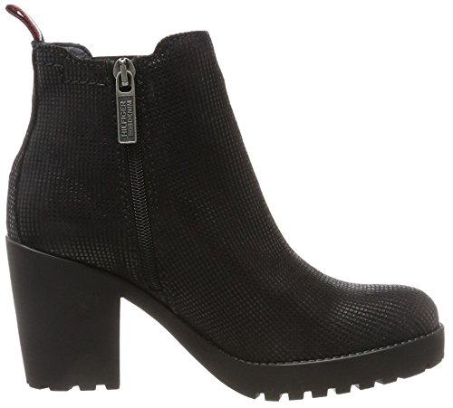 Tommy Jeans B1385oo 1z, Bottes Chelsea Femme Noir (Black)