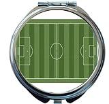 Rikki Knight Soccer Football Field Aerial View Design Round Compact Mirror