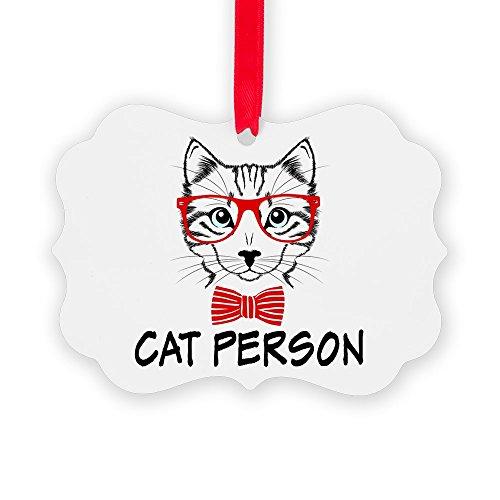 (Picture Ornament Cat Person)