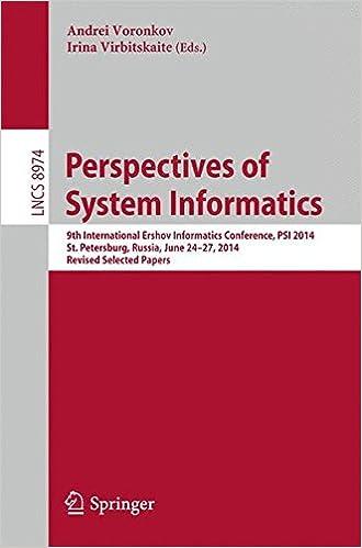 Perspectives of System Informatics: 9th International Ershov