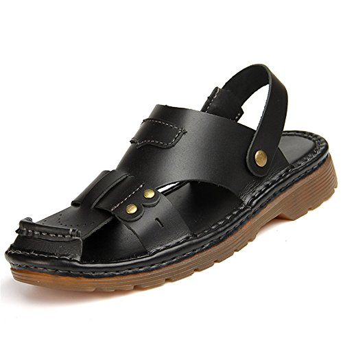Nero 5 24 Da Shoes CM Estiva 27 Uomo pantofole da Comodo Estate Scarpe Sandali Wagsiyi Traspirante Slip spiaggia 0 Beach wIHP7x
