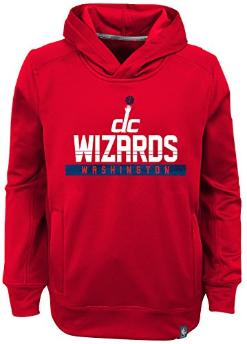 OuterStuff NBA Washington Wizards Youth Boys Playmaker Pullover Hoodie, X-Large(18), Red