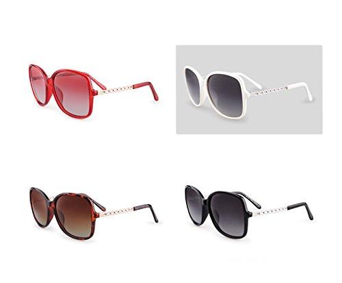 Marco Blanco Espejos Colores Protección Vidrios BSNOWF sol Portátiles Los Polarizadas de Señoras Conducen Que Color Grande De Gafas UV400 F8Aqf
